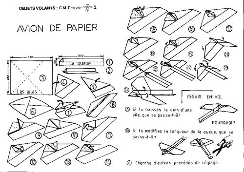 avion en papier origami activit manuelle enfant pictures to pin on pinterest. Black Bedroom Furniture Sets. Home Design Ideas